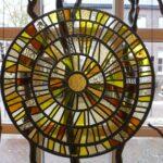 Glas paneel in geel tinten - Zon
